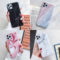 For iPhone 11 Pro Max XR XS 6s 7 8 Plus Marble Pattern Soft TPU Matte Case Cover
