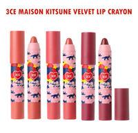 [3CE Stylenanda] 3CE Maison Kitsune Velvet Lip Crayon  (3 Colors) - 2.5g