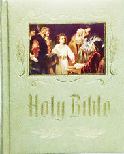 Holy Bible Family Altar Edition White Gold Red Letter King James Version (LR)