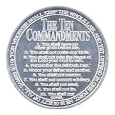 50 x Ten Commandment Coins - Christian Gospel Tract Aluminium Moses 10 Laws Coin