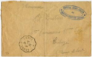 FRANCE MILITARY HOSPITAL ST JULIEN 1915 WW1 CHATEAU GONTIER + SEGRE A SABLE TPO