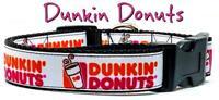 "Dunkin Donuts dog collar handmade adjustable buckle 1""or 5/8"" wide or leash"