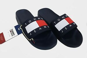 TOMMY JEANS FLAG POOL SLIDE HERREN BADE STRAND SAUNA HAUS SCHUHE SPORT MEN NAVY