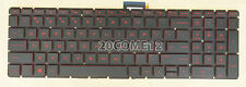 FOR HP Omen 15-ax013dx 15-ax023dx 15-ax033dx 15-ax039nr KEYBOARD red backlit US