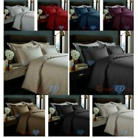 100% Egyptian Cotton 350TC Micro Check Duvet Quilt Cover Bedding Set All Sizes