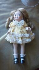 """Repro Googly 12 1/2"""" Blue Eyed All Bisque Doll Germany Jdk 221 Vintage Dressed"""