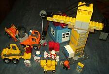Lego Duplo Baustelle Drehkran Bagger 4988 Tieflader Kran Betonmischer Radlader