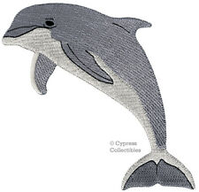 New listing Dolphin Patch iron-on Bottlenose Porpoise embroidered Flipper applique Ocean new