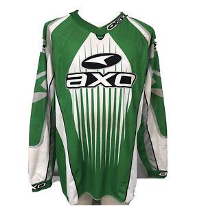 AXO Team Issue Long Sleeve Jersey Men's XL Used Green BMX Motocross 2003