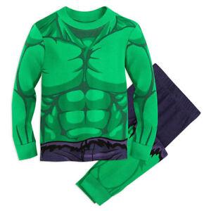 NWT Disney Store Hulk Costume PJ Pal Marvel's Avengers Boys 8,10