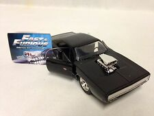 Fast Furious 1970 Dodge Charger R/T, Pull Back,1:32 Diecast, Jada Toys, Black