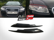 Black eyelids eyelid eyebrows Headlight Cover Fits 2005-2008 Audi A4 S4 B7 Sline