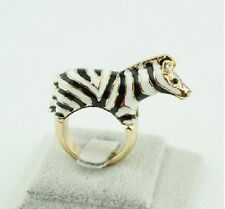 R3 Betsey Johnson Exquisite Zebra African Zoo Animal Ring  US