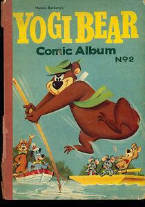 YOGI BEAR Comic Album #2 (1962) World Distributors England 96-page B&W book