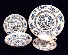 "84-PCS (OR LESS)  J & G MEAKIN ""BLUE NORDIC"" PAT CHINA IRONSTONE-BLUE ONION PAT"