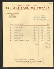 """PARIS (XIV°) OBJETS SOUVENIRS & CADEAUX """"LES ARTISANS DE FRANCE"""" en 1962"""