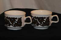Vintage Set of Two Staffordshire Potteries Ltd Ironstone Cups 60s/70s