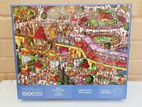 W.H.Smith 1000 Piece Jigsaw Puzzle - The Zoo - Complete