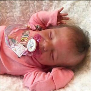 17-inch Reborn Baby Doll Silicone Vinyl Life Like Newborn Girls Birthday Gifts