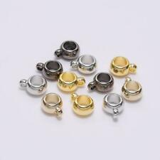50PCS Metal Plated Plastic Spacer Big Hole Loose Beads Connector Jewelry Finding