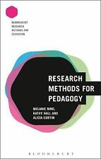 RESEARCH METHODS FOR PEDAGOGY - NIND, MELANIE/ CURTIN, ALICIA/ HALL, KATHY - NEW
