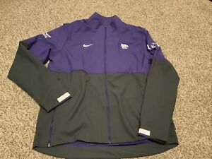 Kansas State Wildcats Nike Jacket Men's Team Issued Rare!! Size: Large Used