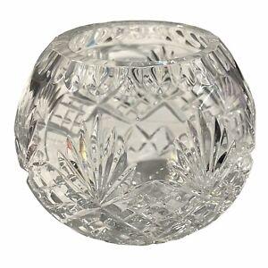 "VINTAGE WATERFORD CRYSTAL GLASS LUDLOW CUT PATTERN ROSE BOWL4 1/2"""