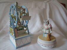 Schmid Kitty Cucumber Retired Musical Ferris Wheel and 1988 Kitty Cucumber music