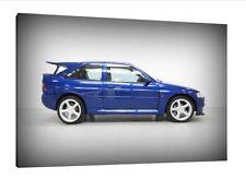 1995 Ford Escort RS Cosworth - 30x20 pulgadas lienzo Arte de impresión de imágenes-Enmarcado
