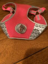 Top Paw Small Reflective Adjustable Comfort Dog Harness. Pink/Grey