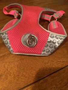 Top Paw Small Reflective Adjustable Comfort Dog Harness. Pink/Grey