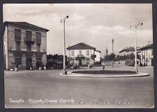 BERGAMO TREVIGLIO 16 STAZIONE ALBERGO CORRIERA Cartolina FOTOGRAFICA viagg. 1952