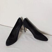 Jonak Paris Black Suede Leather Court Shoes Heels Size 40 UK 7