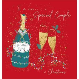 Christmas Card Special Couple Christmas Champagne