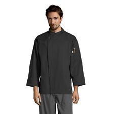 Santorini chef coat, black or white, sizes Xs to 3Xl, 0489