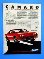 """1987 Chevrolet Camaro Z28  Mobile Oil  Original Print Ad 8.5 x 11/"""""""