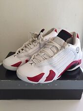 "Men's Air Jordan retro 14s ''Candy Cane"" white/red size 9.5"