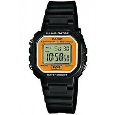 Casio LA20WH-9A Ladies Petit Square Black Gold Digital Sports Watch W/ Led Light