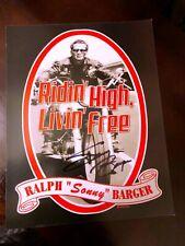 Hells Angels Sonny Barger flyer signed.