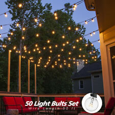 25Ft/ 30Ft/ 50Ft/ 100Ft Globe Bulbs Outdoor Waterproof Holiday String Lighting