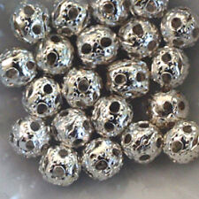 "20 Beads Balls Metal WATERMARKS ""Silver"" ø 4 mm"