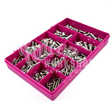 250 ASSORTED PIECE A2 STAINLESS M4 M5 M6 M8 M10 FULLY THREADED BOLTS SET KIT