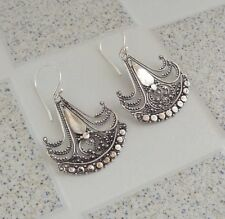 Traditional Design Balinese Solid Silver, 925 Filigree Earring 38697