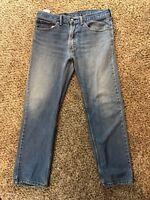 Levis 505 Blue Jeans Mens Size 34x30 Denim Distressed Vintage Punk Rock Biker