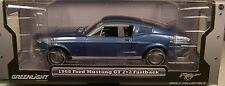 GREENLIGHT DIECAST METAL 1:18 SCALE ACAPULCO BLUE 1968 FORD MUSTANG GT FASTBACK