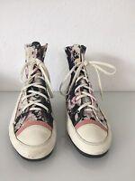 Marccain Textil Floral High Top Leder Sneakers Blogger Retro  Gr 40  Limited Ed.