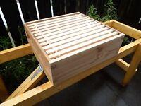 1 National Super  Cedar wood, Assembled, with 11 sn5 built frames and wax.