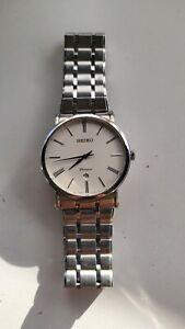 Seiko Premier Men's White Dial Dress Watch 7N39-0CA0-NEW LONG LIFE RENATA BATTER