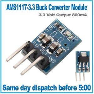 AMS1117 LDO DC 5V to 3.3V Step-Down Converter Regulator 800mA Vertical Module