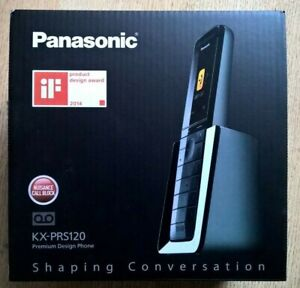Panasonic KX-PRS120 Premium Design Cordless Phone, Black